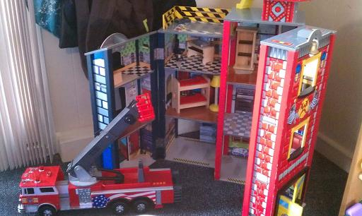 Fire Truck and Fire House